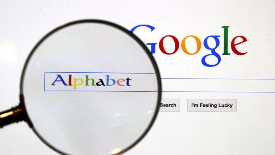 Google ist seit 2015 ein Tochterunternehmen von Alphabet.