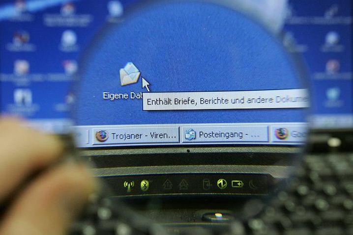 Zoom auf einen Computer-Bildschirm: Die umstrittene Online-Durchsuchung kommt mit dem neuen BKA-Gesetz