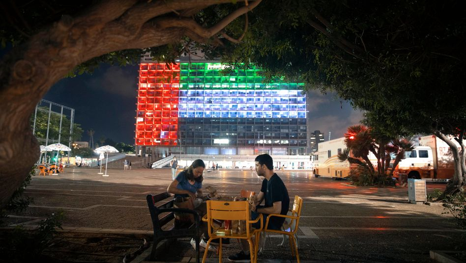 Tel Aviv City Hall is lit up with the flag of the United Arab Emirates: part of a wider change of consciousness