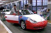 Fleißige Schwaben im Porsche-Werk in Stuttgart-Zuffenhausen