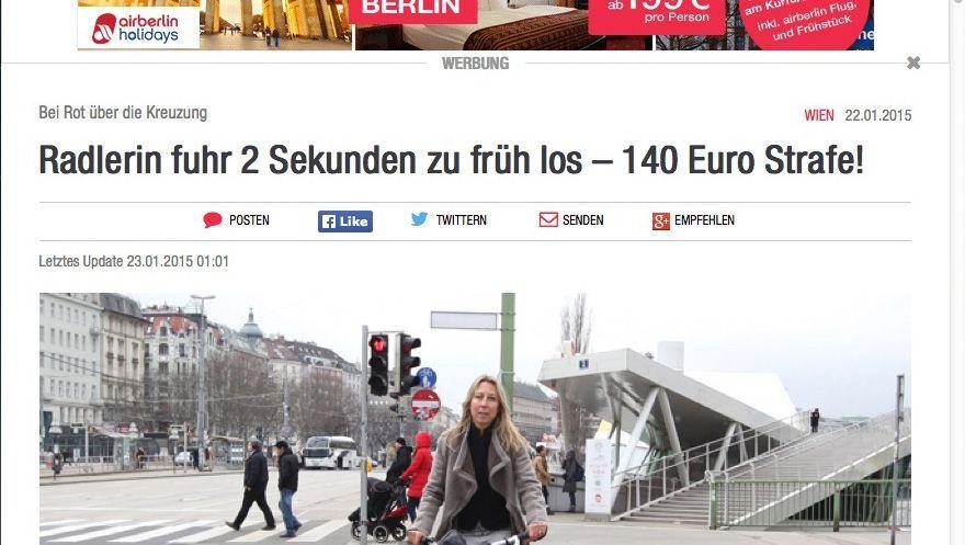 Maria Jelenko-Benedikt, Heute.at-Chefredakteurin: Zwei Sekunden zu früh losgefahren