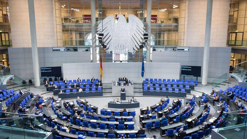 Blick in den Plenarsaal des Bundestages