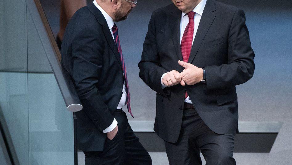 Martin Schulz (links) und Sigmar Gabriel