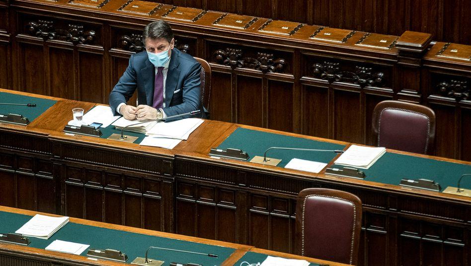 Ministerpräsident Conte im italienischen Parlament (Archivbild)