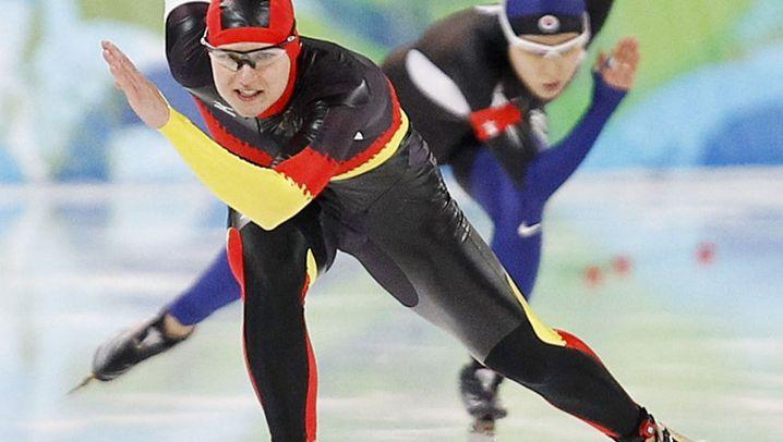 Eisschnelllauf: Fünf Hundertstel am Glück vobei