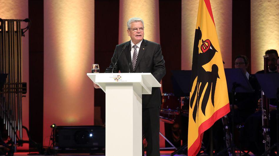 """Bundespräsident Gauck in Frankfurt: """"Unsere Grundwerte stehen nicht zur Disposition"""""""