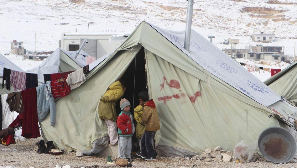 """Flüchtlingslager im Libanon: """"Schlimmste humanitäre Krise seit Jahrzehnten"""""""