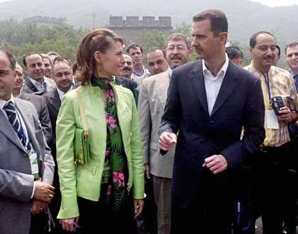 Bashar Assad and his wife Asma