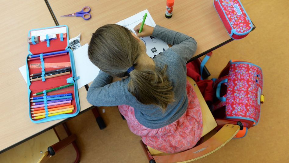 Grundschülerin in Baden-Württemberg