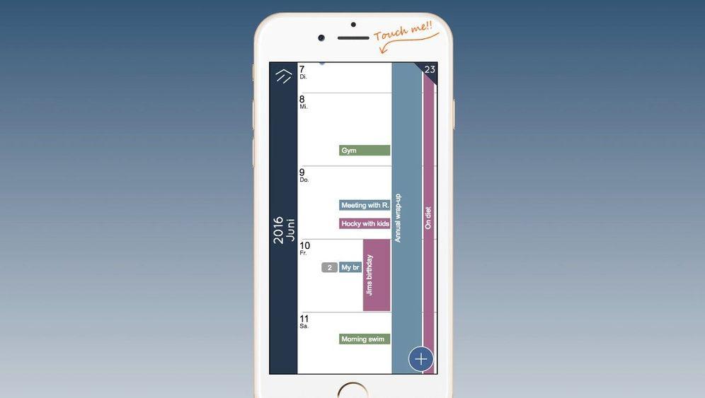 Kalender-App: Zum Termin gezoomt