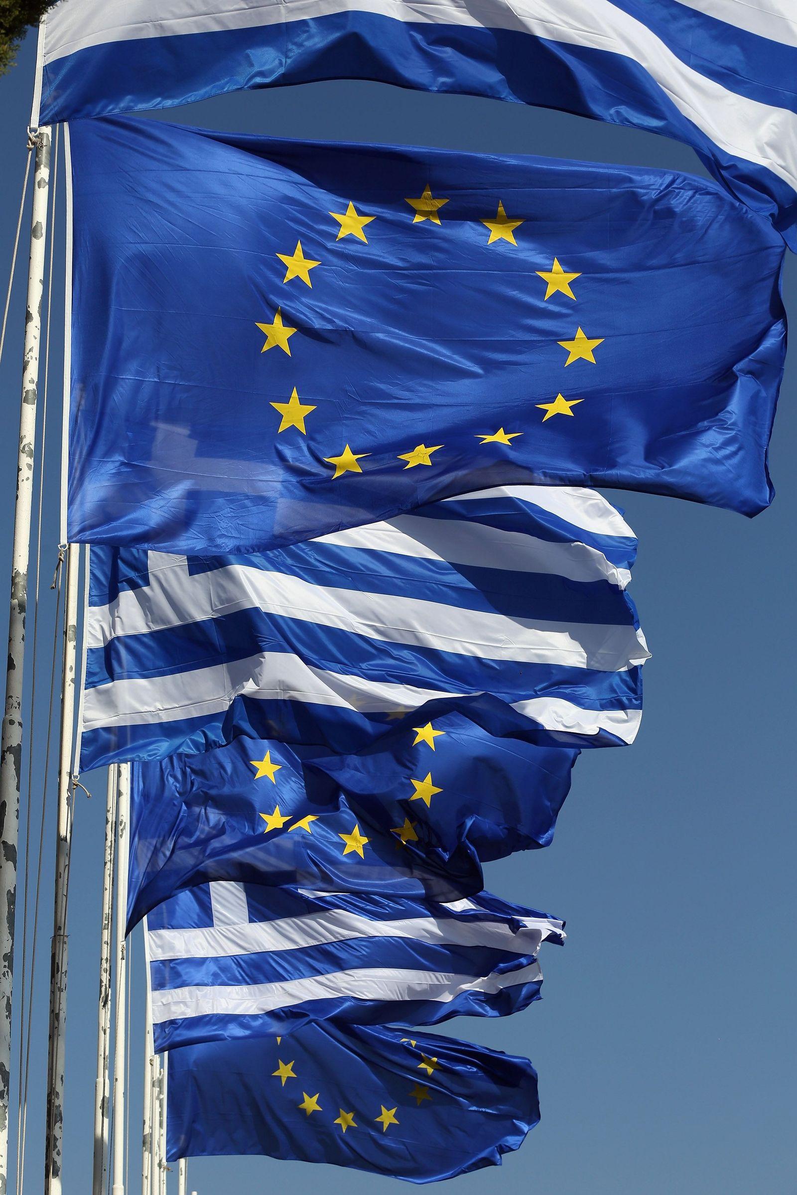 Griechenland/ EU/ Flagge