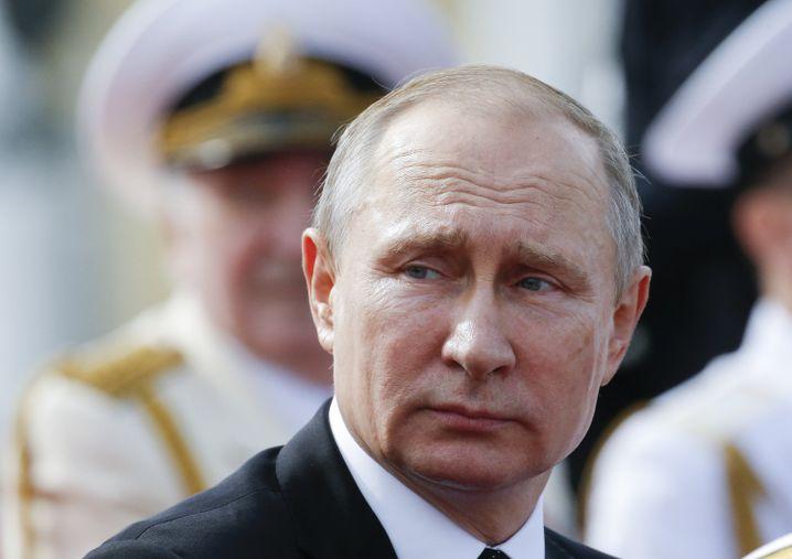 Von der Linken in Schutz genommen: Wladimir Putin