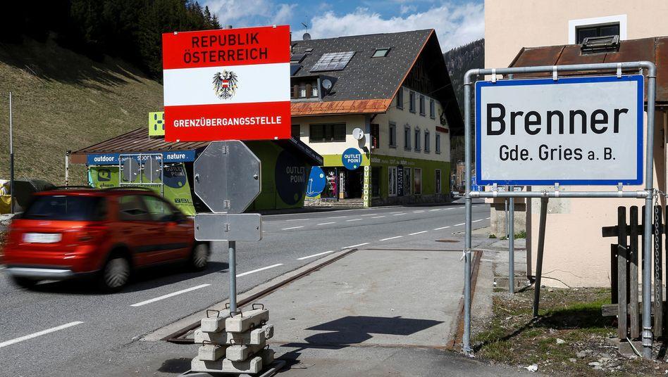 Italienisch-österreichische Grenze am Brenner