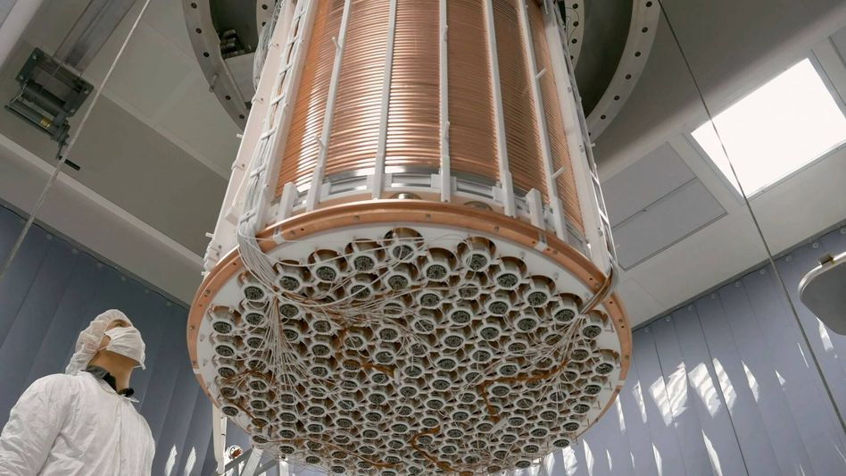 XENON1T-Detektor im Gran-Sasso-Untergrundlabor