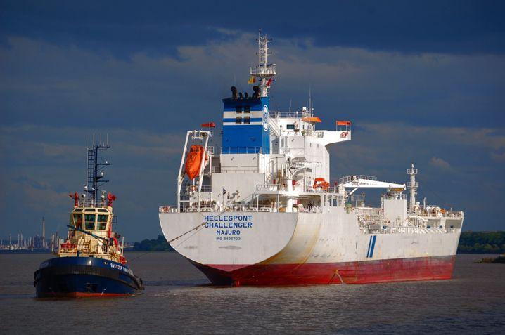 """Pleiteschiff """"Hellespont Challenger"""""""