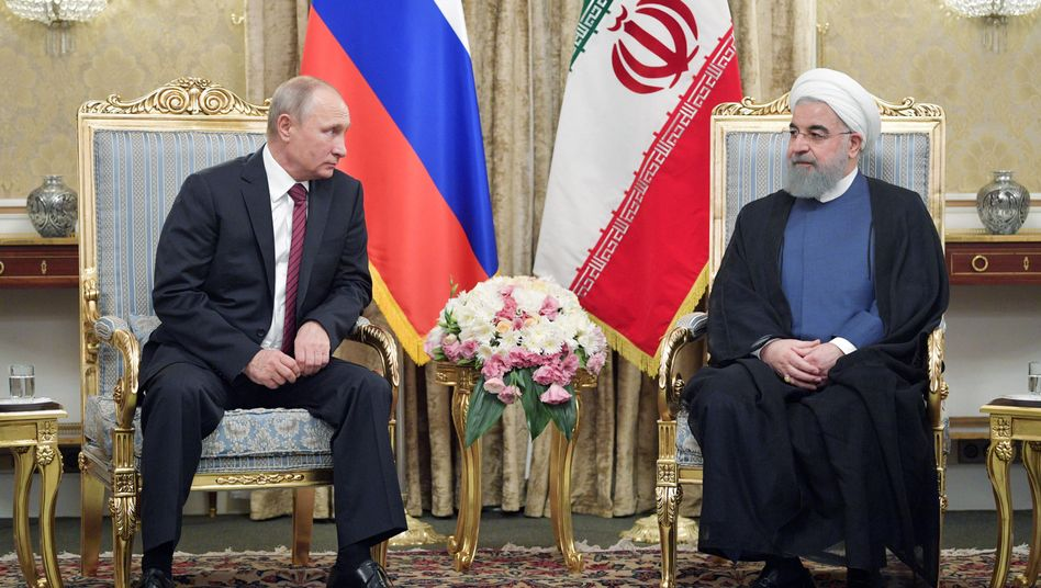 Russischer Präsident Putin (l.), Irans Präsident Rohani (in Teheran)