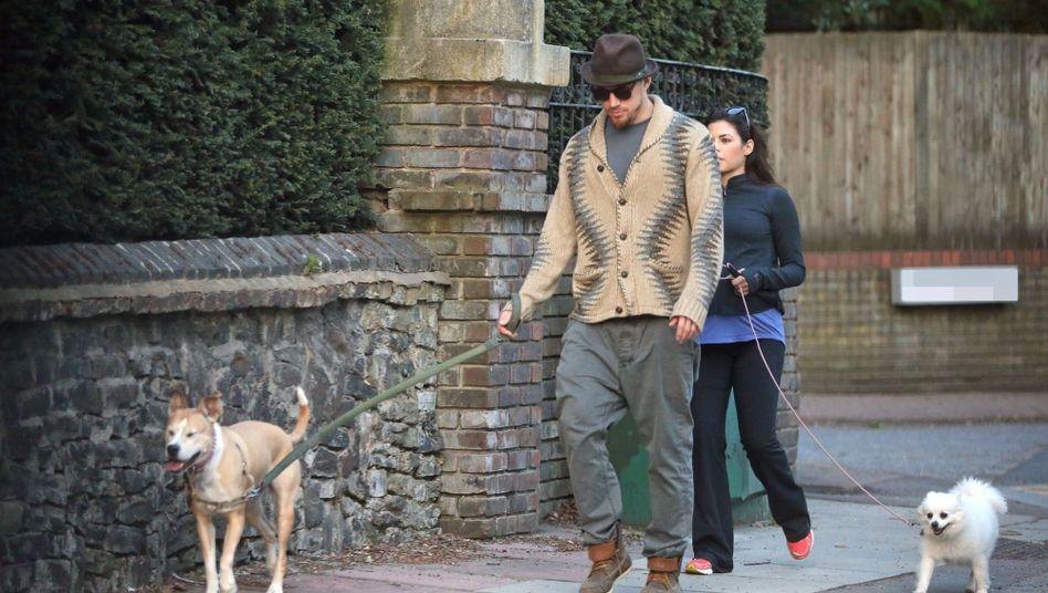 Channing Tatum mit Hündin Lulu und seiner damaligen Frau Jenna Dewan 2013 in London