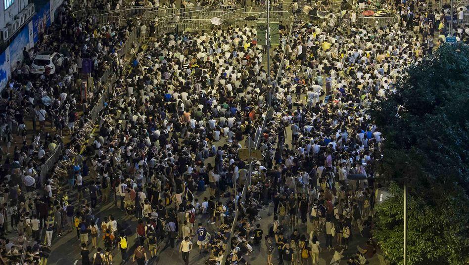 Proteste in Hongkong (Bild von Samstag): App FireChat sehr beliebt
