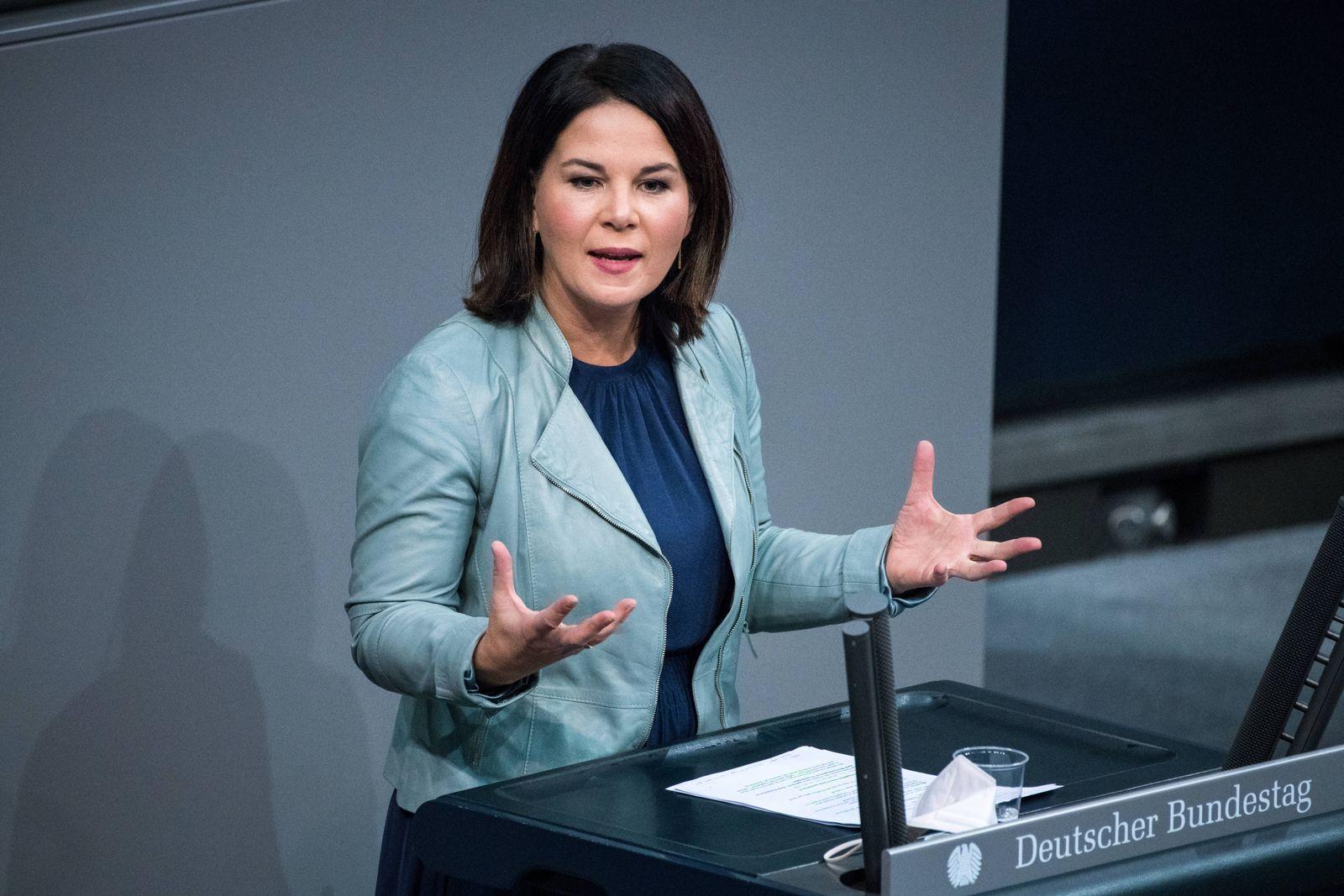 Annalena Baerbock, Bundesvorsitzende von Buendnis 90/ Die Grünen am 09.12.2020 im Bundestag in Berlin. Foto: bildgehege