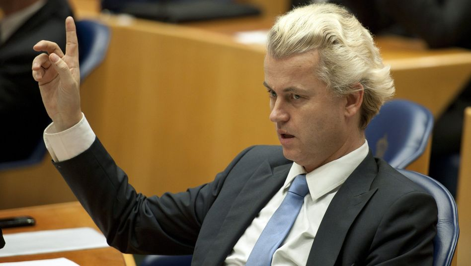 Dutch right-wing PVV party leader Geert Wilders.