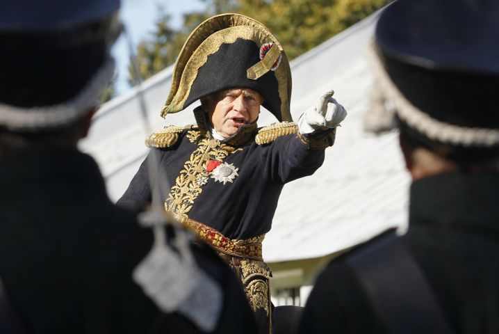 Der des Mordes verdächtige Historiker Oleg Sokolow zeigte sich gern in historischen Kostümen