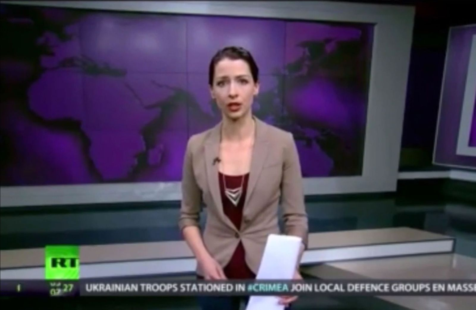 NUR ALS ZITAT Abby Martin / Russia Today USA