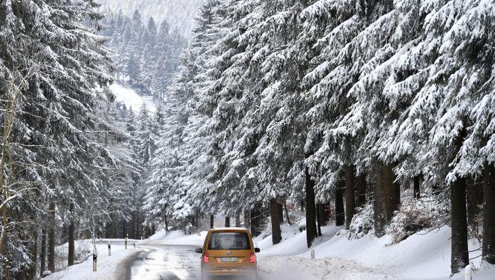 Kältewelle: Eis und Schnee in Deutschland