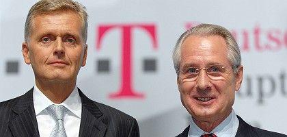 """Ex-Telekom-Chefs Ricke (links) und Zumwinkel: """"Über Jahre systematisch und großflächig realisiert"""""""