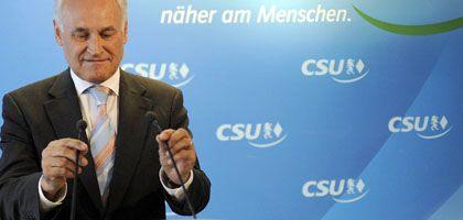 """Huber bei seiner Rücktrittserklärung: Eigenlob für """"Mehr Netto für alle"""""""