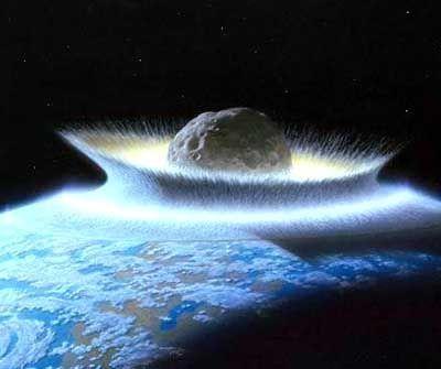 """Meteoriteneinschlag (Zeichnung): """"Das Land zerbrach wie ein Topf"""""""