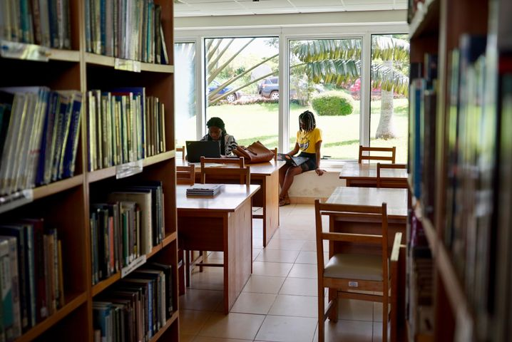 Half the students at Ashesi University are women.