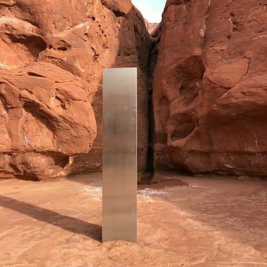 Utah officials discover monolith in the wild, USA - 18 Nov 2020
