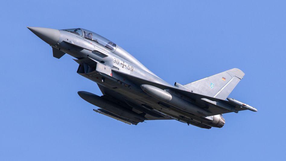 Der Kampfjet Eurofighter ist ein Gemeinschaftsprojekt mehrerer europäischer Staaten