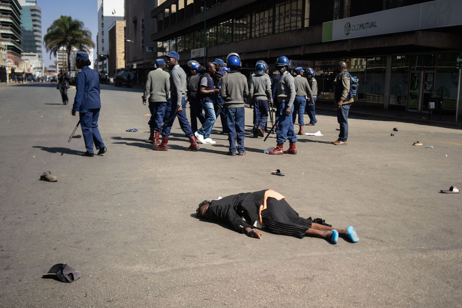 Proteste Harare Simbabwe