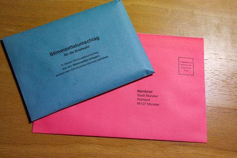 Man braucht für den Umschlag Platz, aber mehr noch für den Stimmzettel