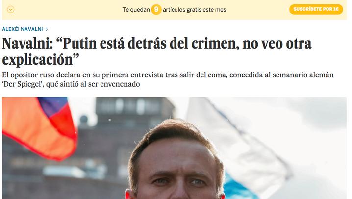 Wie Medien aus aller Welt über das Nawalny-Interview berichten
