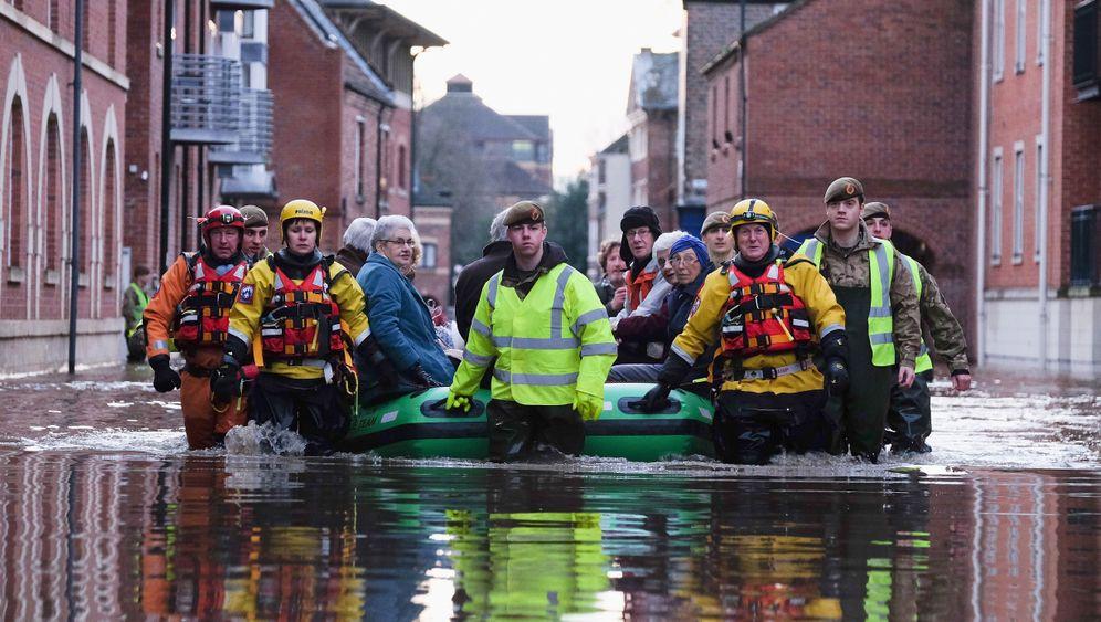 Alles fließt: Überschwemmungen in Nordengland