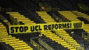 Fans (der Topklubs) protestieren gegen Reform (zugunsten der Topklubs)