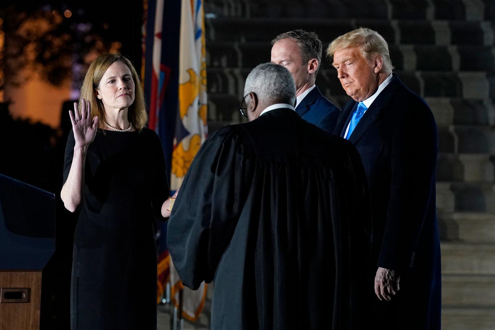 Donald Trump, Amy Coney Barrett, Clarence Thomas