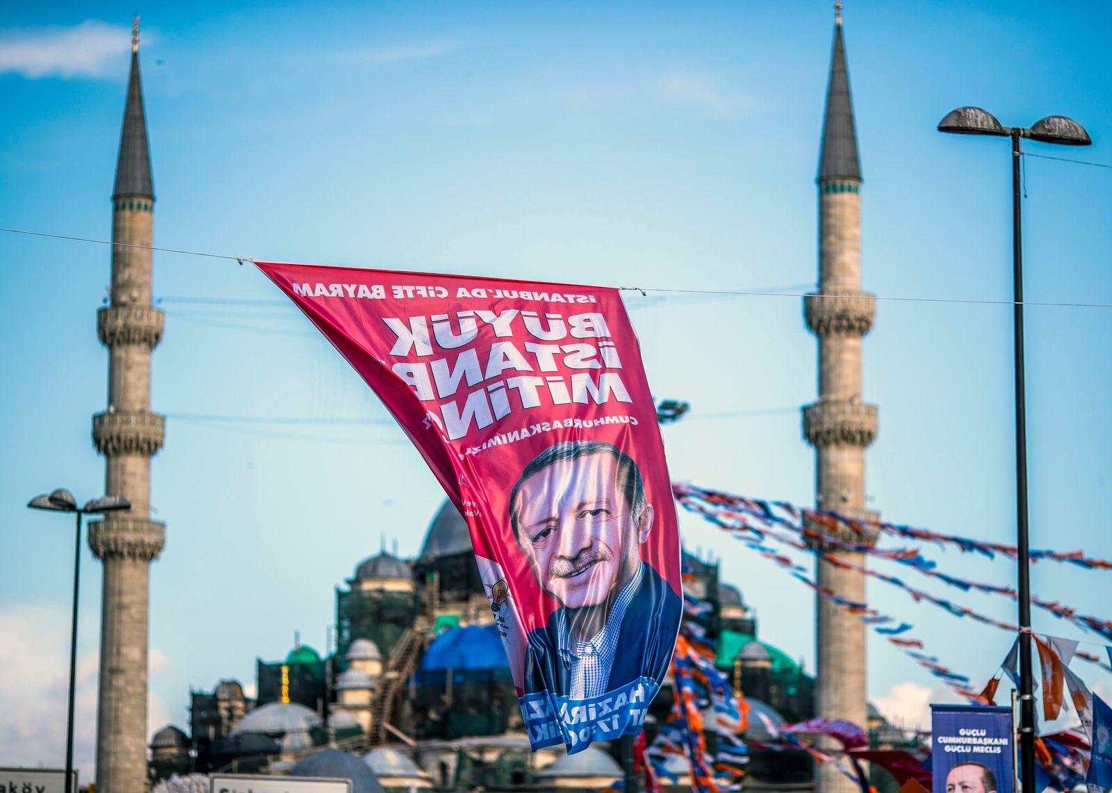 Istanbul / Erdogan Wahlplakat