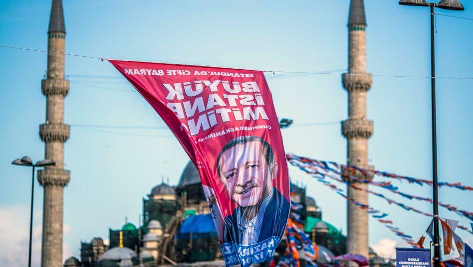 Erdogan-Wahlplakat in Istanbul