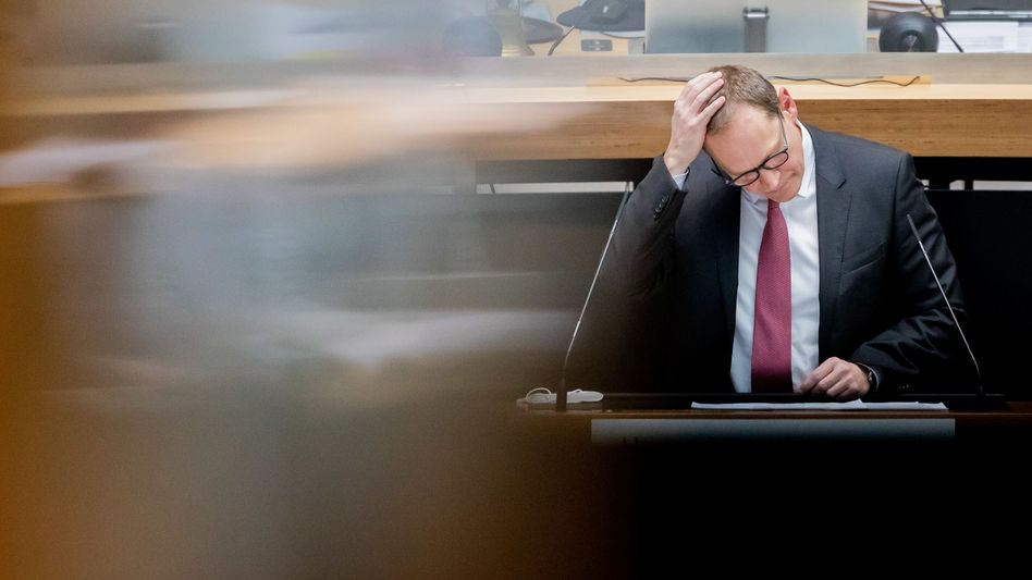 Regierender Bürgermeister Müller im Berliner Abgeordnetenhaus