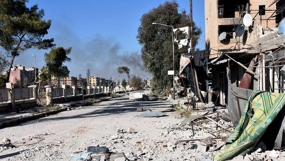 Ost-Aleppo am 27. November 2016 im Gebiet von Masaken Hanano