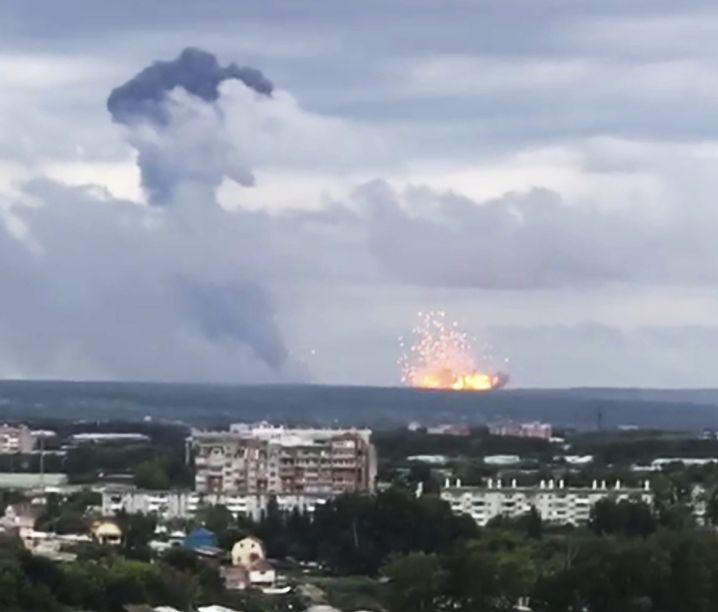Weiteres Videostandbild des Vorfalls: Der Auslöser der Detonation ist unklar