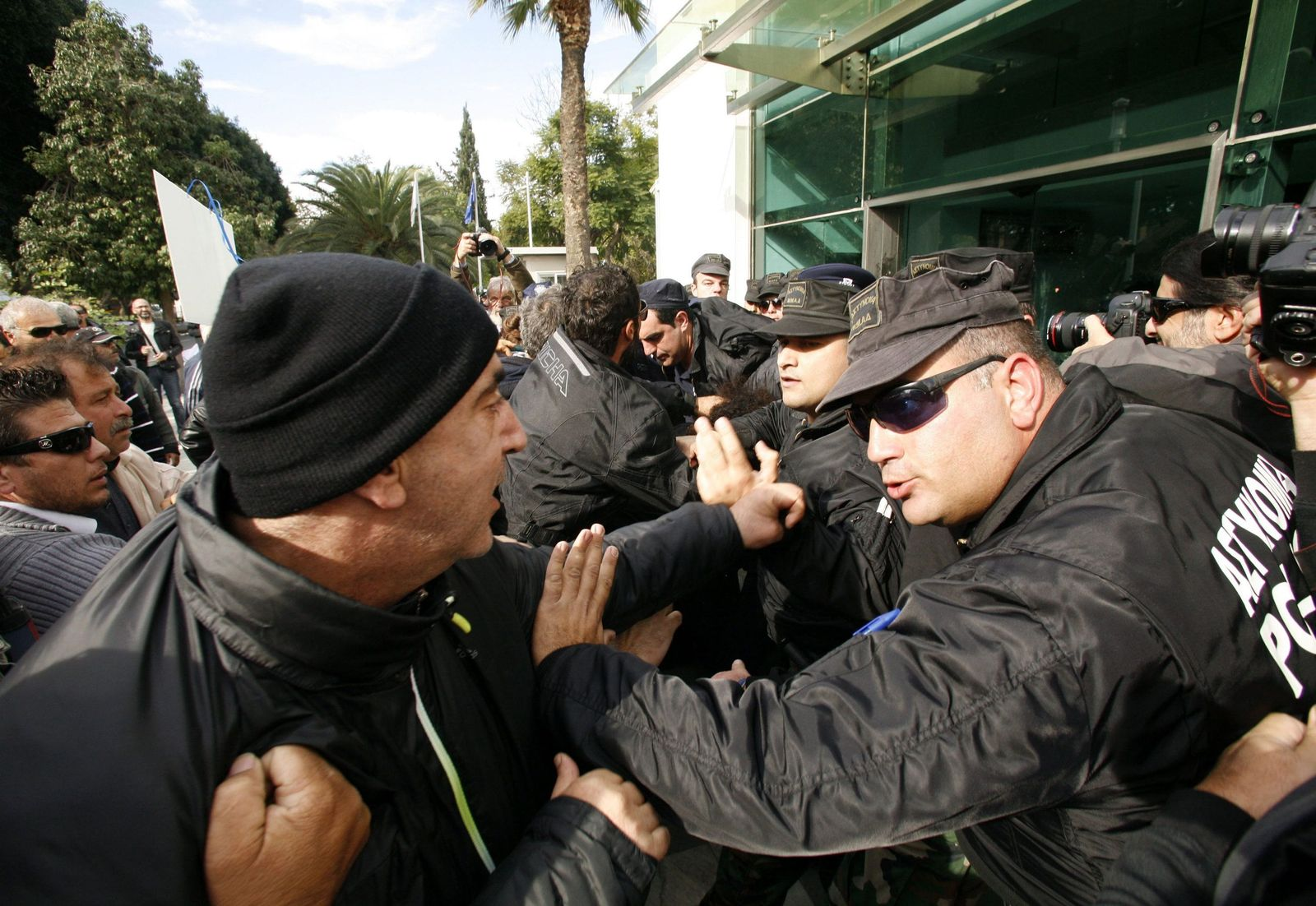Cyprus austerity protests