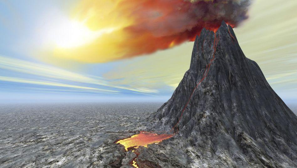 Vulkanausbruch (Symbolbild): Erfrorene Ernte, gesellschaftliche Spannungen