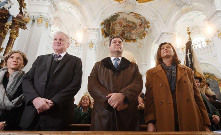 Horst Seehofer (links), Markus Söder, Ilse Aigner