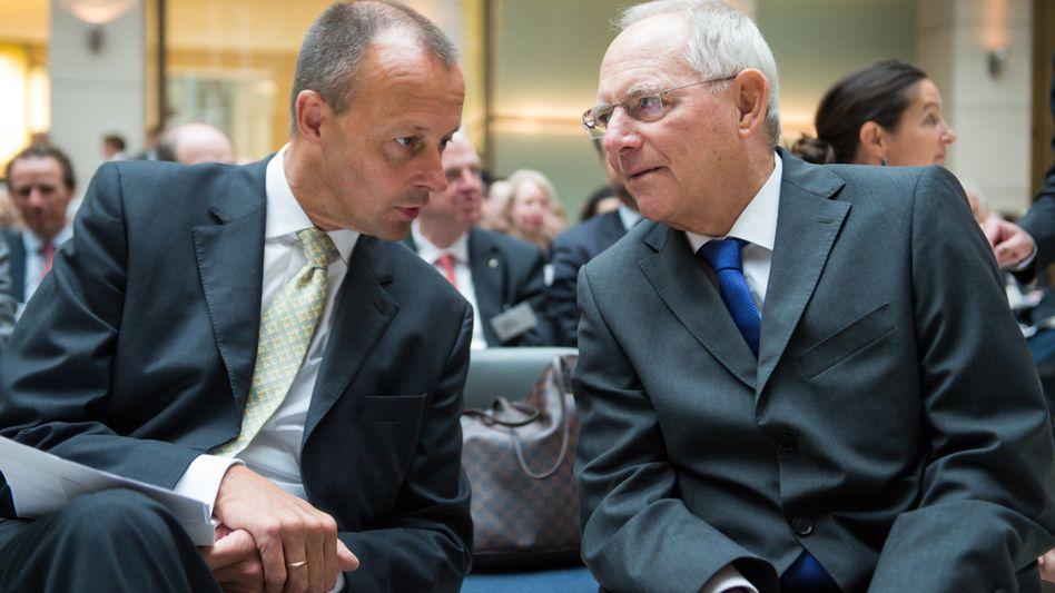 Friedrich Merz (l.) und Wolfgang Schäuble