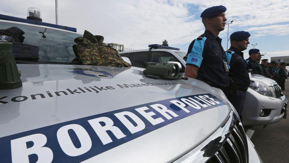 Frontex-Beamte an der türkisch-bulgarischen Grenze