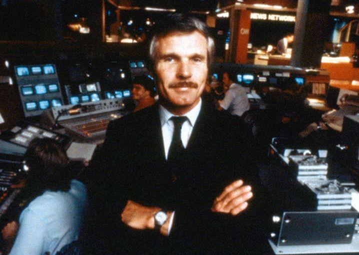 "CNN-Gründer Ted Turner 1985 im Newsroom in Atlanta: ""Tränen in den Augen"""